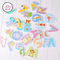 UMU#1006 ABC Animal Magnet Baby Wooden Toys Educational Toys