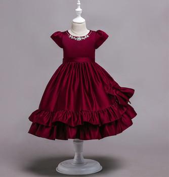 Pendek Gaun Malam Satin Gaun Anggur Merah Atau Warna Biru Tua Untuk