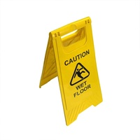 Wet floor/caution PP safety warning sign