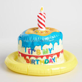 Fine Custom Inflatable Birthday Cake Shaped Hat For Crafts Buy Fancy Funny Birthday Cards Online Elaedamsfinfo