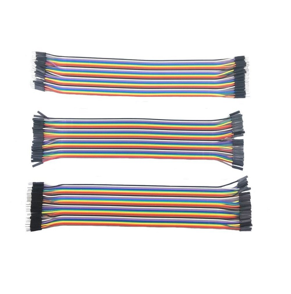 3 Packs 30cm Multicolored 40 Pin Male To Female, 40 Pin Male To Male, 40 Pin Female To Female Breadboard Jumper Wires Ribbon Cables Kit