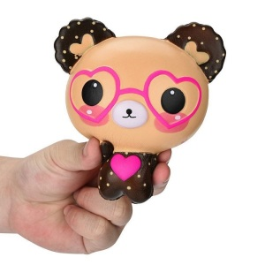 New Design Slow Rising Kawaii Scented Squishy Soft Eyeglasses Bear Toys