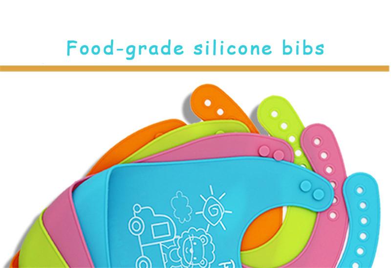 Design Kinderkleding.2019 Wholesale Baby Feeding Bibs Waterproof Silicone Kinderkleding