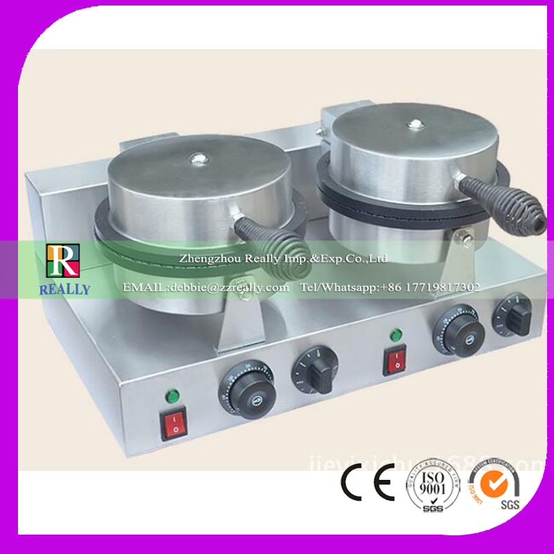110V/220V 2000W Ice cream cone baker <strong>Electricity</strong> stainless steel machine Ice cream cone baker maker 1PC