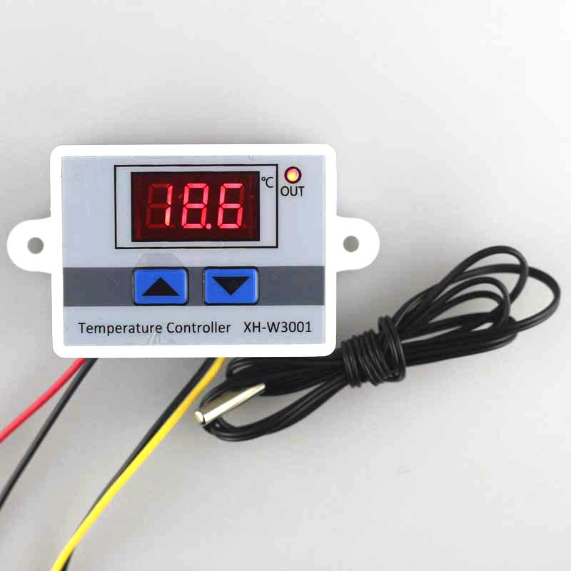 Digital Temperature Controller Thermostat LED Sensor for Incubator AC10A 220V TW