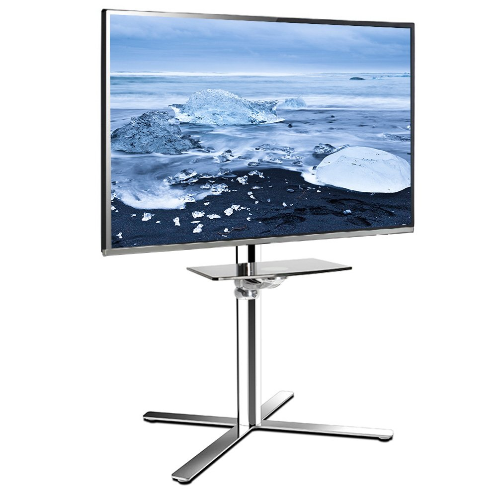 FLEXIMOUNTS Mobile TV Stand Stainless TV Cart Wheels most 32-60 inch LCD LED Plasma Flat Panel Screen