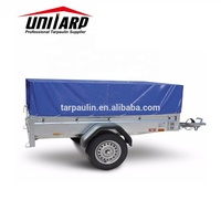 Various Color Fire Retardant PVC Coated Tarpaulin Car Trailer Cover