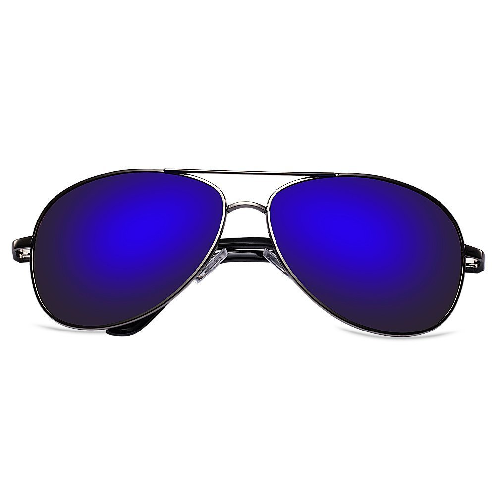bc0b572f99 Get Quotations · Zheino 5904 Full Mirror Sun Glasses Men Women Pilot  Polarized AVIATOR Anti Glare Driving Glasses Riding
