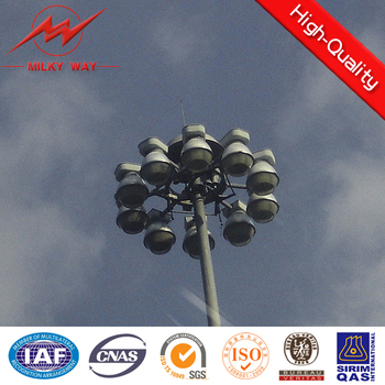 New product flood lighting poles High Mast Light Pole with 2000w lights