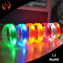 China party gift Led charm smart silicon bracelet