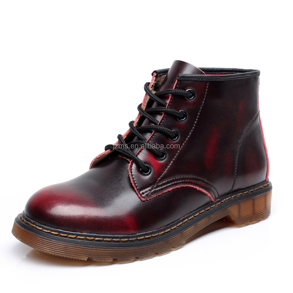 wholesaler womens leather combat boots womens leather