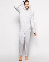 Mens 100% Cotton Fleece One Piece Zipper Up Sherpa Lining Pajama ...