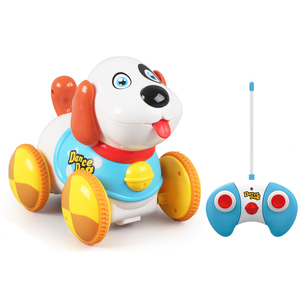 High quality rc car dog shape with radio control stunt jumping toys remote control baby toys funny design for kids