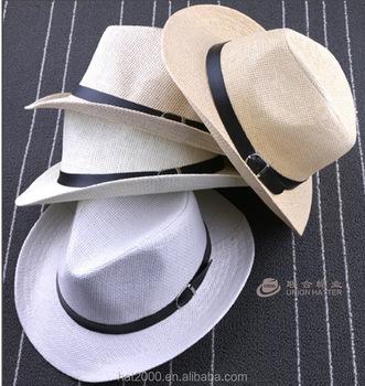 New Fashion pria Pantai Musim Panas Matahari topi Jerami Topi Koboi Jazz  Pecinta Topi Memancing Topi 00d1b6b367