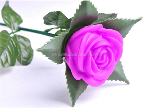 Factory direct artificial big rose flowers with led lights