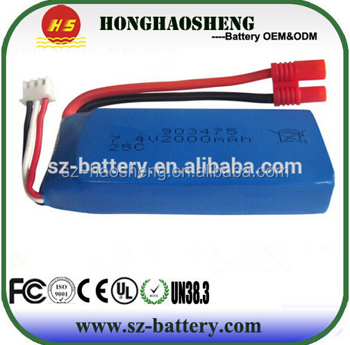 Original 2Pcs 7.4V 2000mAh Batteries For Venture X8c X8w X8g Quadcopter