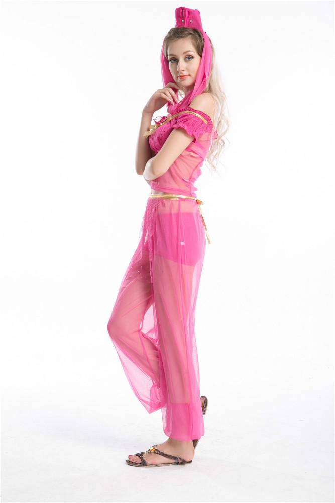 PARA MUJER VESTIDO de LUJO BELLY DANCER JASMINE ALADDIN ARABIAN ...