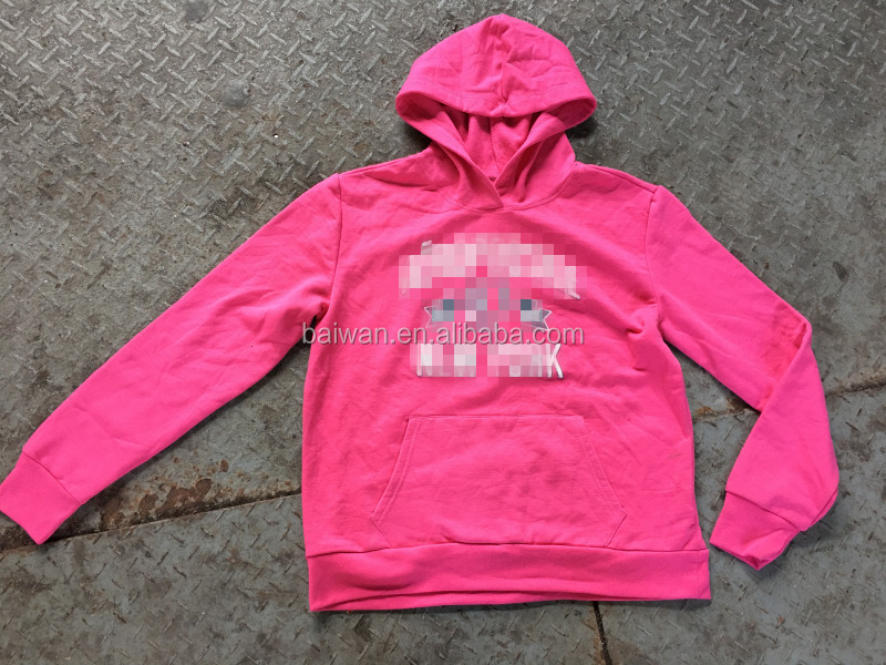New apparel branded overruns garments lady hoodie clothing stocklot
