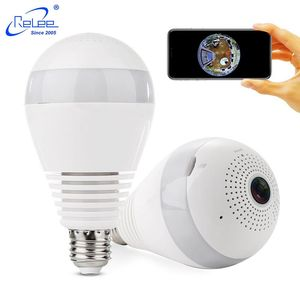 Outdoor Room Mini Night Wireless 360 Degree VR Panoramic Fisheye Spy Hidden Surveillance Wifi IP Security CCTV Light Bulb Camera