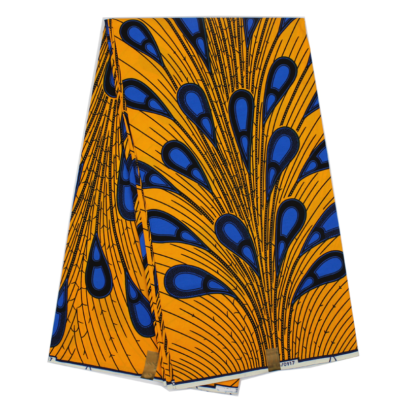 African guaranteed real dutch wax print <strong>fabric</strong> with peacock tail pattern