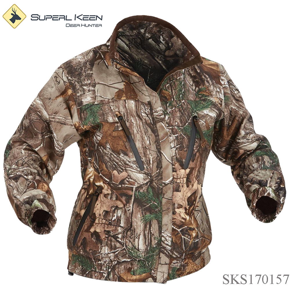 Outdoorwear Durable Light Waterproof Realtree Xtra Hunting Jacket