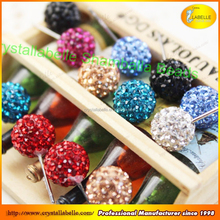 Crystal Shamballa Clay Beads Loose Crystal Beads glass pave beads in bulk