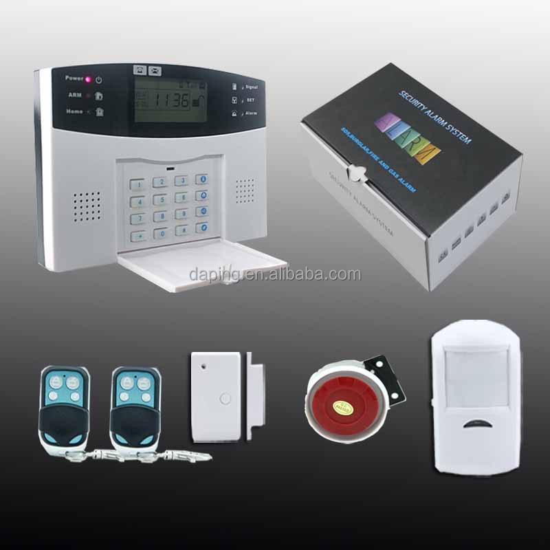 433Mhz GSM SMS Wireless/Wired intruder alert gsm alarm system Home Alarm Security System