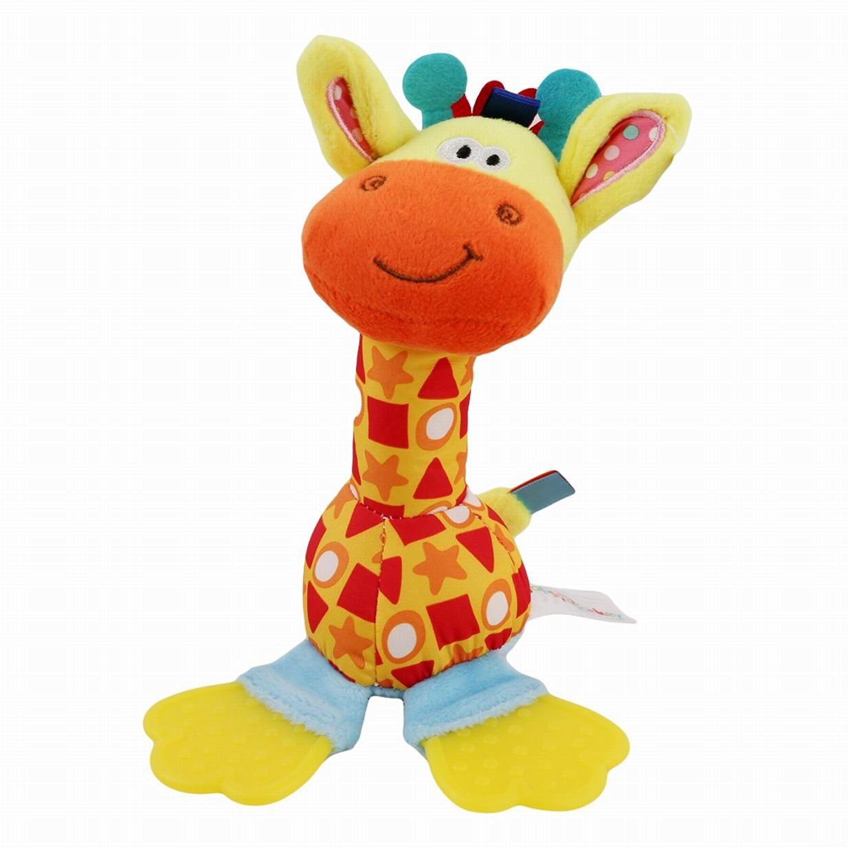Edtoy Baby Toy Animal Teether Stick Baby Rattle Hand Rattles Infant Puppet Stick Newborn Baby Stick Bell Deer