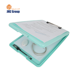 Chinese cheap high quality promotional stationery plastic pvc slim pretty clipboard manufacturer a4 custom with storage