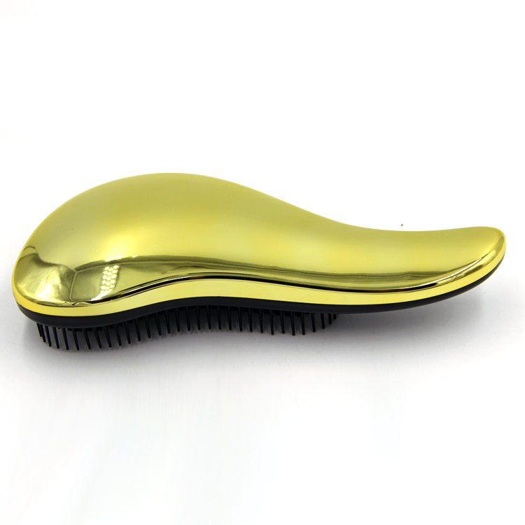 Salon Tools Gold Color Tangle Hair Brush Comb High Quality Magic Detangle Brush