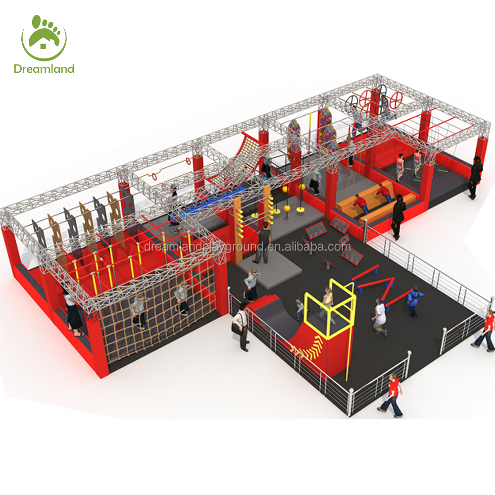 Professional Adult/Kids Ninja Warrior Obstacle Course for Sale