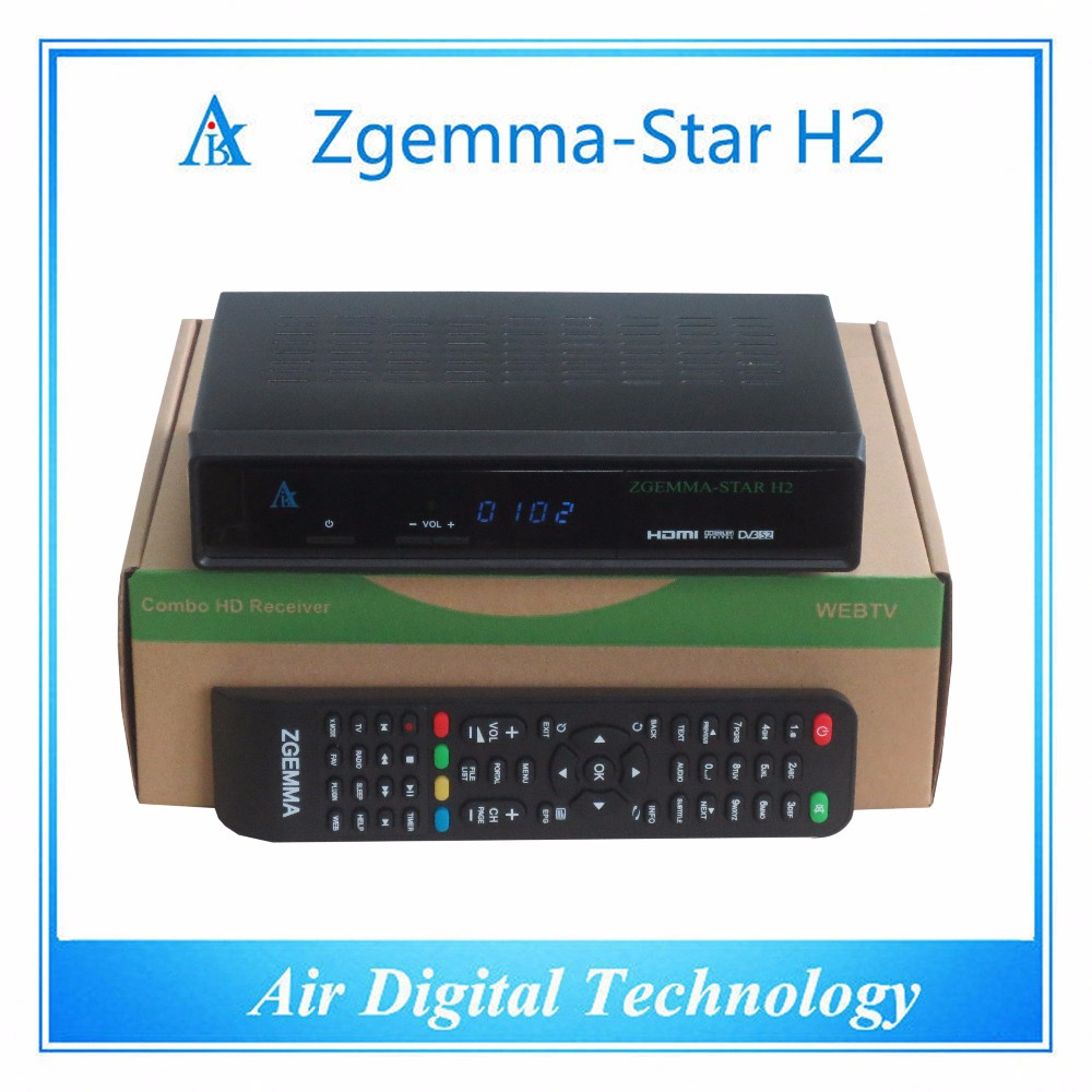 2016 satellite receiver Zgemma star H2 with DVB-T2+S2 109A tuner for DVB-T2