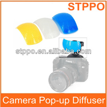 3 Color Pop Up Flash Diffuser for Canon Nikon Pentax Cameras