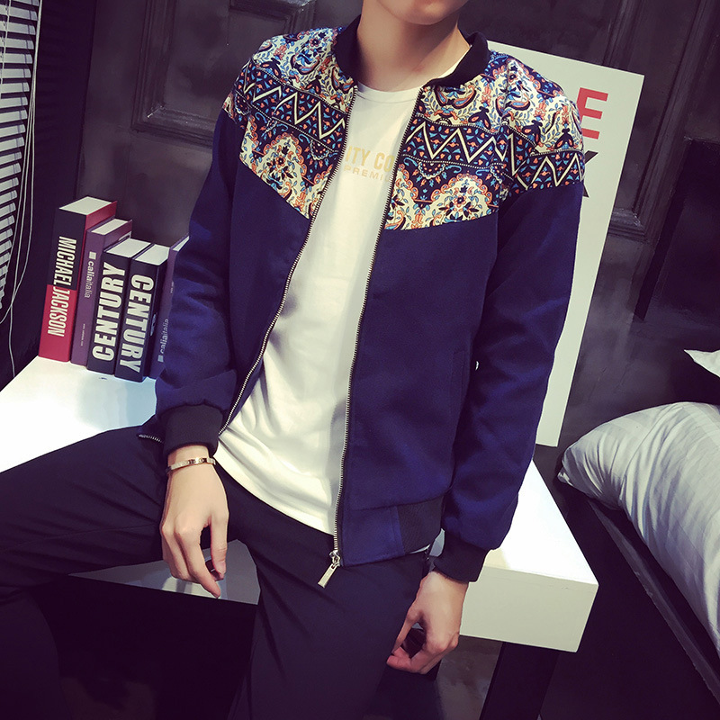 New Premium Men's Kurti Style Blue Pilot Baseball Jacket From China