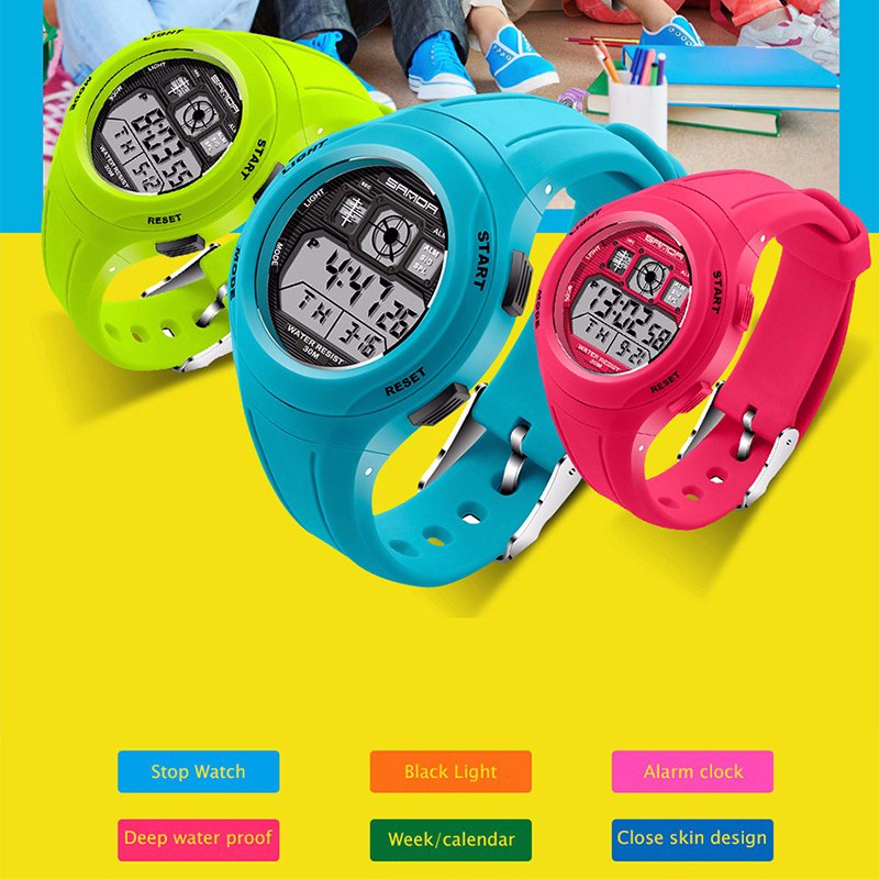 Efficient Sanda Top Led Digital Children Watch Kids Watches Girls Boys Clock Child Sport Wrist Watch Electronic For Girl Boy Surprise Gift Children's Watches