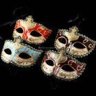 Festive and party supplies 6 colors painted pulp masquerade masks with lace Venetian masquerade ball masks
