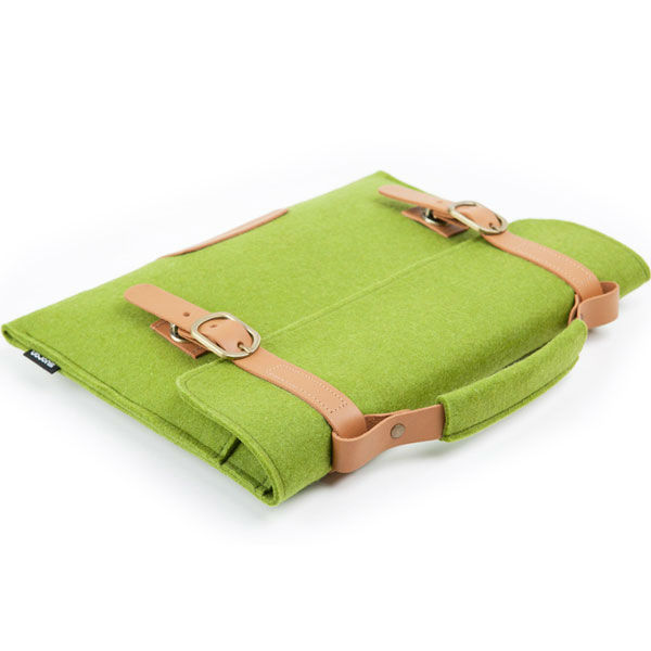 Green Retro Felt Case for Macbook