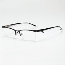 Полуоправа, металлические очки для чтения, полуоправа, легкий пружинный шарнир, кристально чистые линзы, очки для мужчин и женщин, Пресбиопи...(Китай)