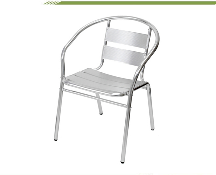 Poly Wood Bistro Garden Plastic Chair With Aluminum Legs Wood Seat And Back