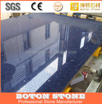 Blue Pearl Quartz Slabs Used Kitchen Quartz Countertop With Mirror