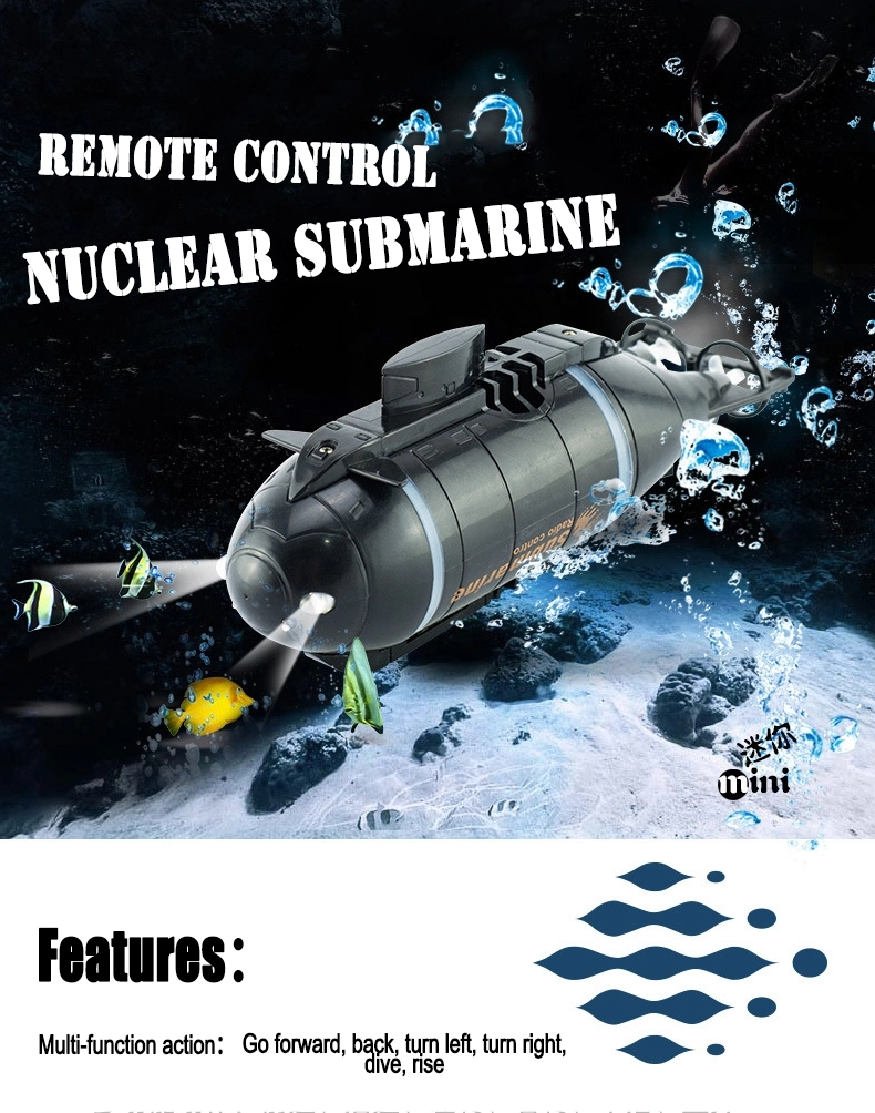 777-216 Mini Remote Control Racing Submarine RC Mini Boat RC Toys For Kids With 40MHz RC Transmitter Gifts For Kids