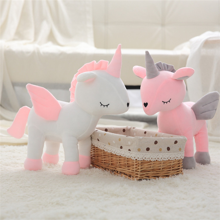High Quality Kawaii Cute Soft Plush Angel Unicorn Plush Toys Baby Sleeping Little Doll