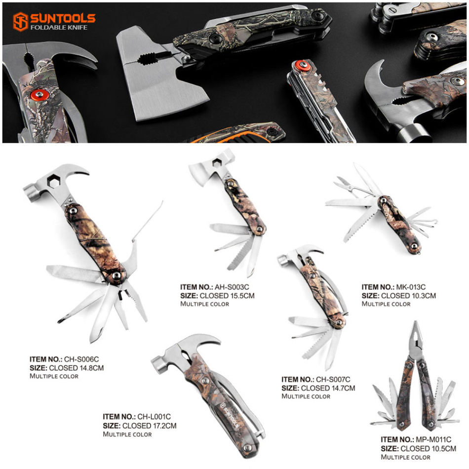 Multi-function stainless steel 6 in 1 Claw Hammer