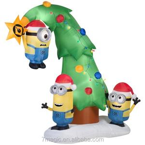 Minion Christmas.Inflatable Minion Tree Christmas Inflatable