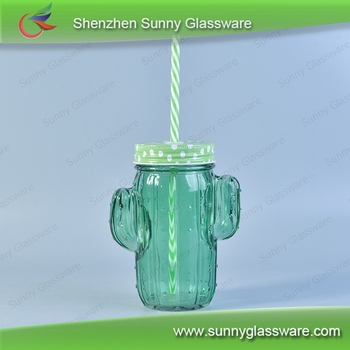 Wholesale glass soda bottle with lid