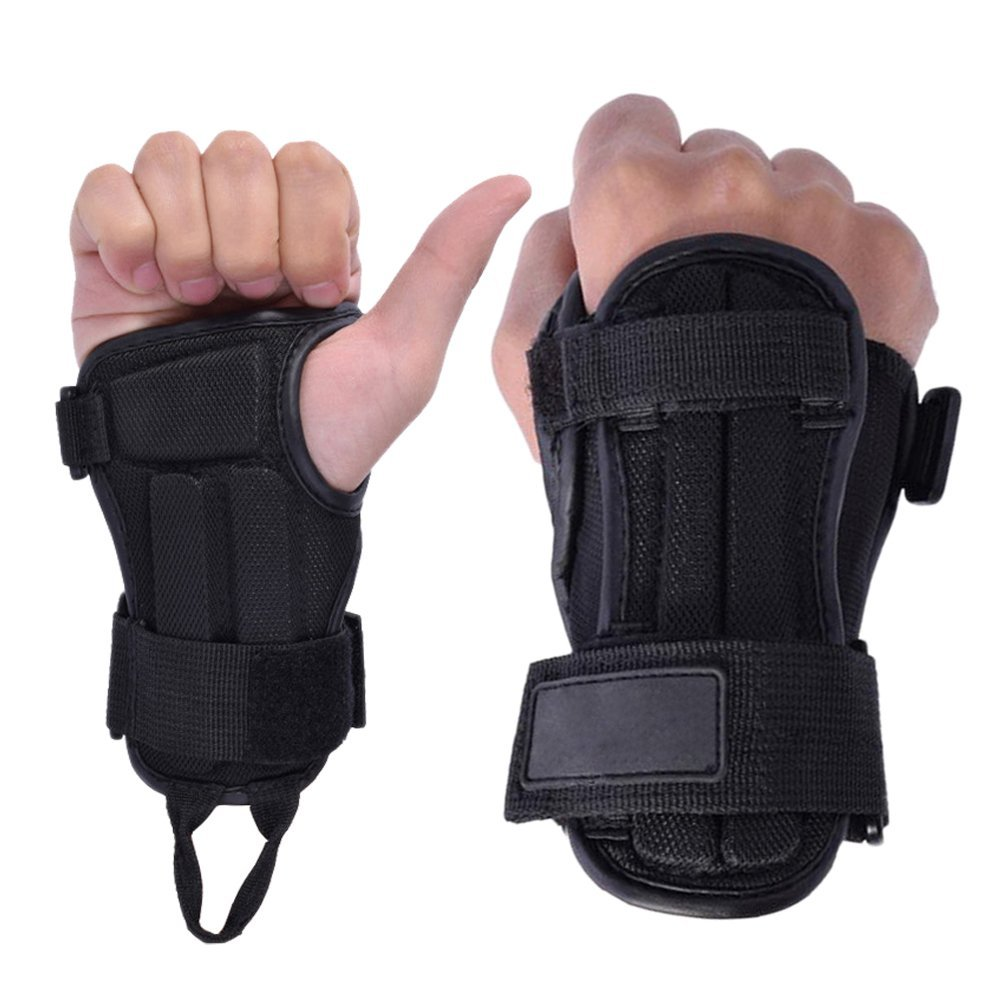 f270ce1c51c CyberDyer Snowboarding Skiing Protective Wrist Guard Gloves To Prevent  Injury Black 1 Pair