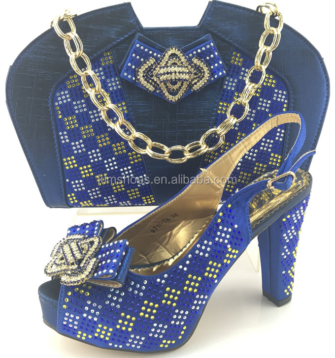 And Shoes Matching Set And Italian Clutch Bag Blue Shoes Matching Matching Bag ME7710 Shoe Set And Royal Bag XAAw7