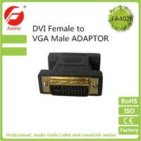 DVI to VGA gold connector for electronic equipment adapter