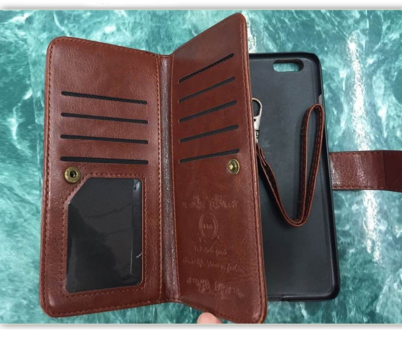 New Trend Customized Smart Phone Magic Wallet Style Leather Case for iphone 6