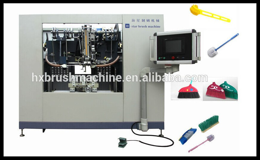 High Speed Five Axis 3 heads CNC Drilling and Tufting Broom Machine GS180D China